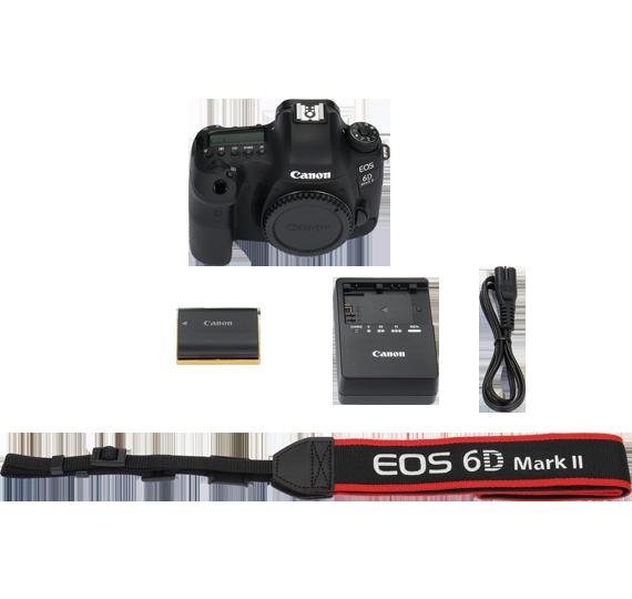 canon eos 6d mark ii kutu içeriği