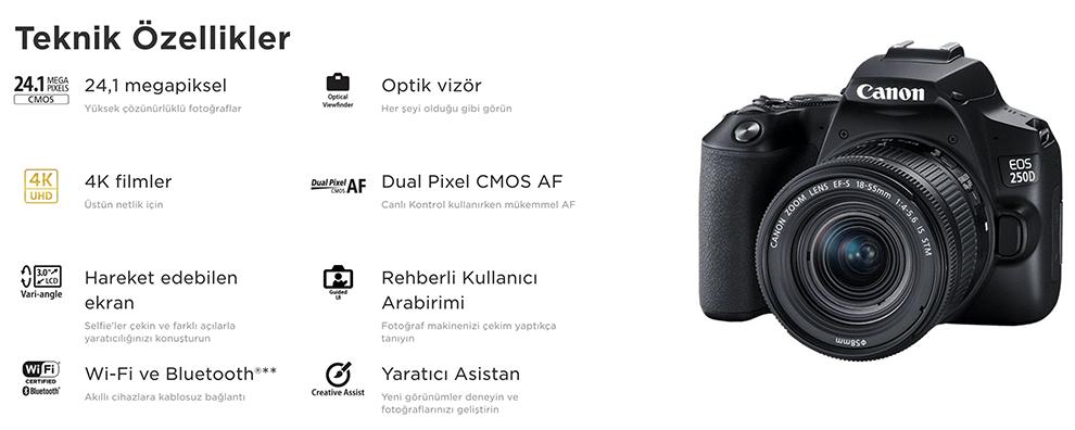canon eos 250 fiyat ,canon eos 250d özellikleri ,canon eos 250d inceleme