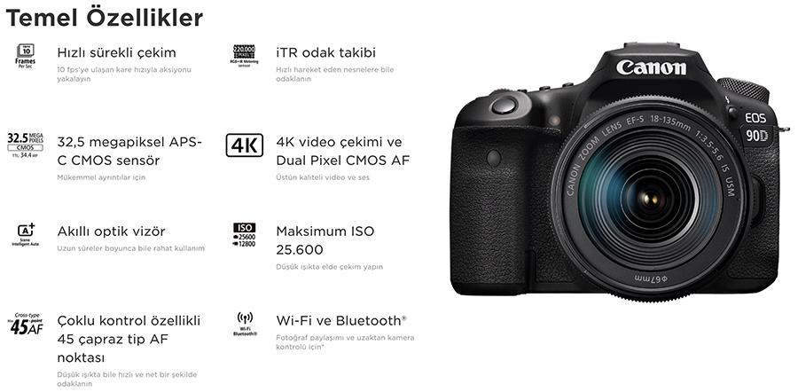 Canon EOS 90D özellikleri