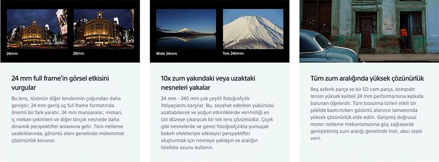 sony 24-240mm lens fiyati